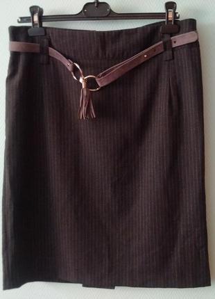 Юбка прямого кроя с поясом sandro ferrone