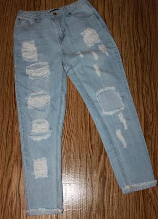 Модные джинсы мом размер 10