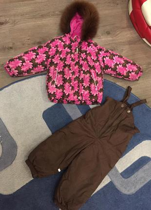 Зимняя курточка комбинезон lenne 98 + 6