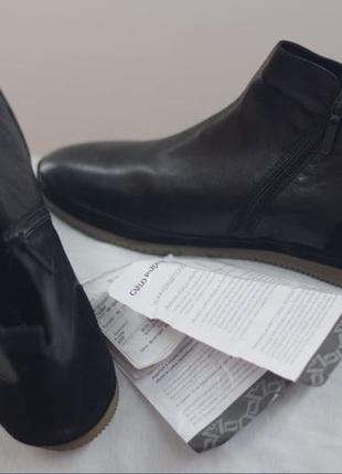 Кожаные ботинки  от известного итальянского бренда carlo pazolini, 45 размер, оригинал!