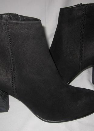 Ботинки ecco ,раз 41 стелька 27.5см натуральный мягенький нубук