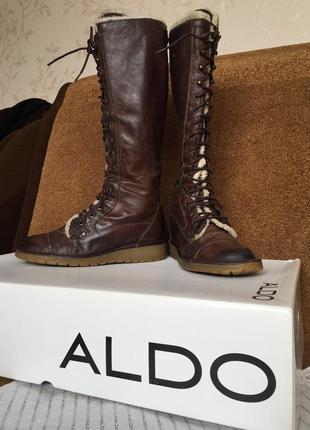 Зимние кожаные сапоги aldo