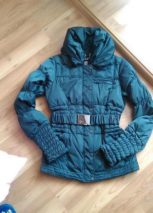 Теплая удлененная куртка