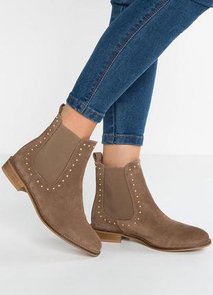 """Р.40 """"kiomi"""",италия, натуральная кожа! комфортные,элегантные полусапоги ботинки туфли"""