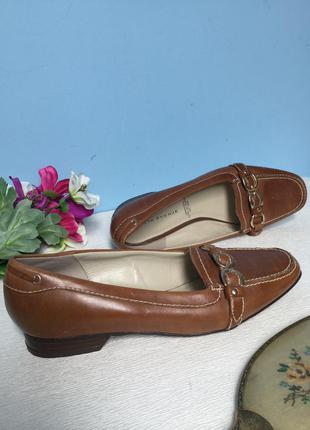 Туфли кожаные 5th avenue лоферы