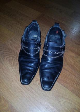 Козаки, ботинки кожаные