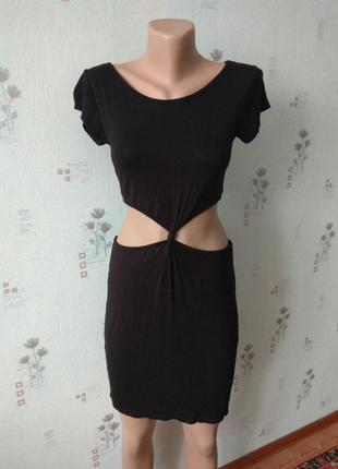 Стильное облегающее черное сексуальное короткое платье boohoo