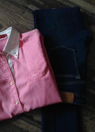 Рубашка розовая burberry