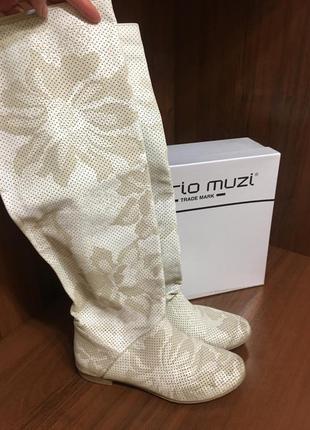 Сапоги перфорированная кожа mario muzi
