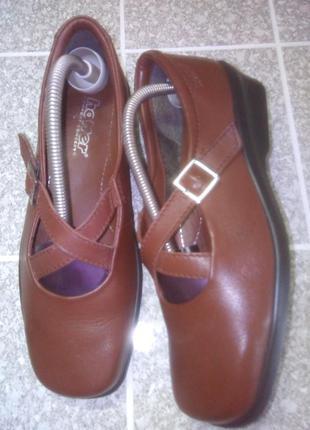Кожаные мягкие туфли комфорт