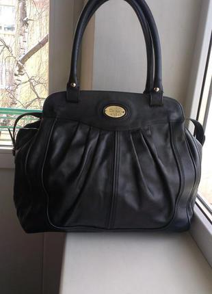 Кожаная сумка hugo boss