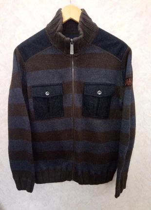 Мужская кофта на молнии  с карманами tom tailor original