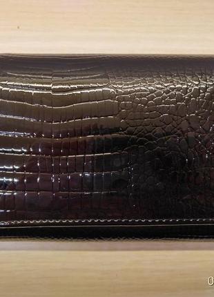 Черные кошельки balisa из натуральной лаковой кожи