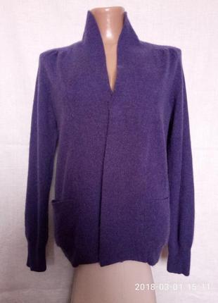 Кашемировый (100%) свитер кардиган без застежки