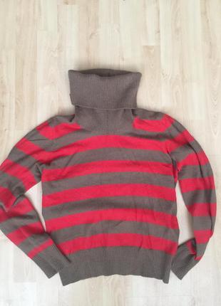 Полосатый свитер с ангорой и шерстью h&m
