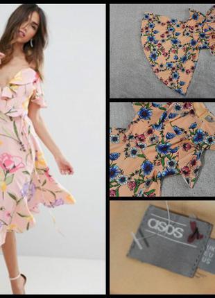 Asos.шикарное весеннее платье с рюшами.
