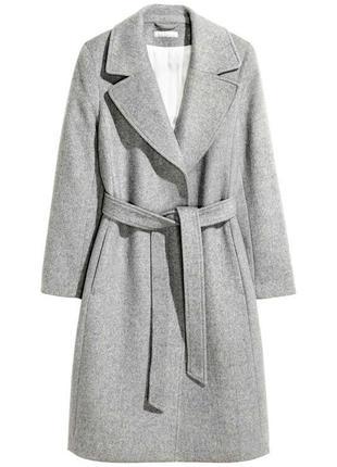 Пальто из смесовой шерсти от h&m большой размер