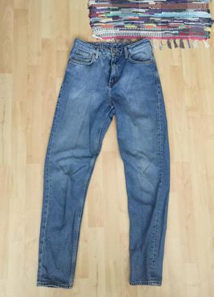 Плотные высокие джинсы h&m