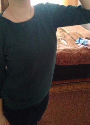 Пуловер темно-зеленого цвета#свитер#пуловер#весна#зеленый#купить#пуловер#
