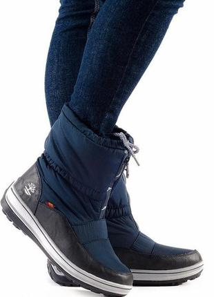 Дутики, сапоги, луноходы, ботинки темно-синего цвета
