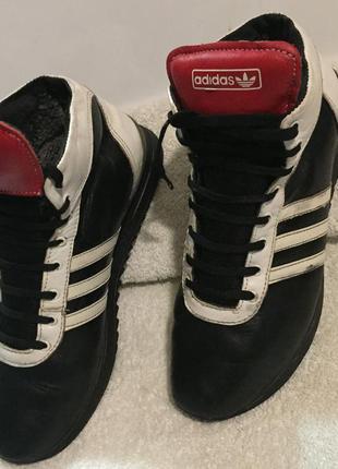 Кроссовки adidas, тёплые, зимние, кожа