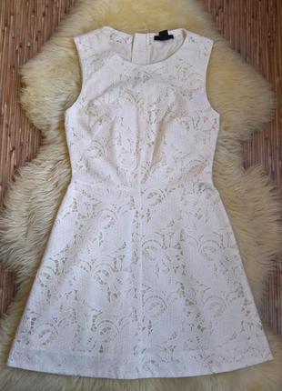 Кружевное платье h&m.