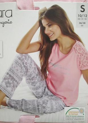 Красивая женская пижама домашний костюм esmara германия, футболка штаны