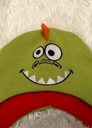 Детская яркая шапочка шапка германия kik 45-50-60 см дракоша новая