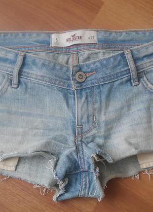 Мега стильні джинсові шорти hollister розмір s