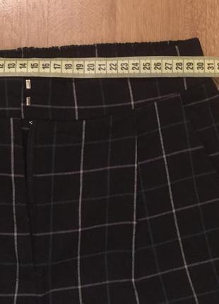 Брюки/ штаны на высокой посадке в клеточку befree