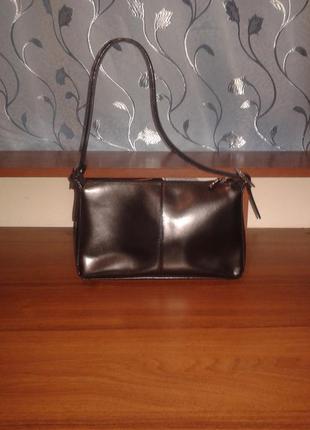 Кожаная сумочка tcm tchibo /германия