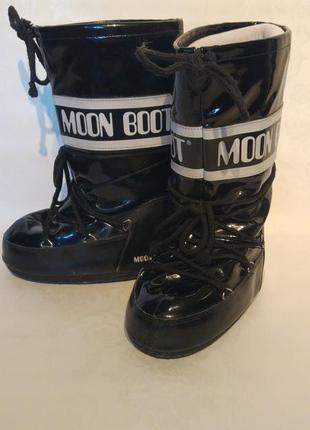 Черные сапоги луноходы moon boots