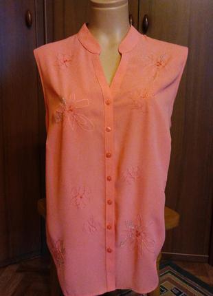 Красивая блузка marks & spencer с вышивкой