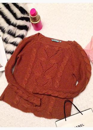 Коричневый свитер new look