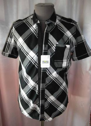 Рубашка мужская биокотон angelo litrico разм. 39-40 по вороту
