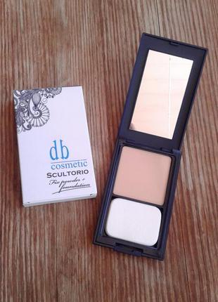 Dark blue cosmetics компактная пудра sculptorio fix powder&foundation 202