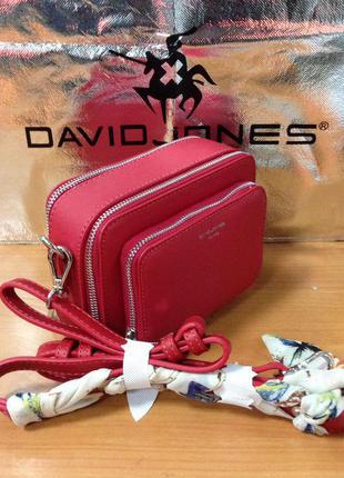 Клатч d. jones cm3767 red (красный) (5 цвета)