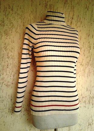 Катоновый свитер -гольфик под горло,м - xxl