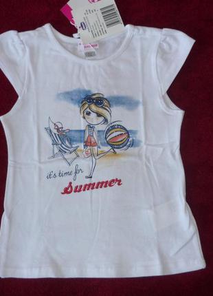 Футболка chicco, р.104 4 года для девочки. новая детская футболочка