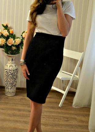 Узкая черная юбка new look