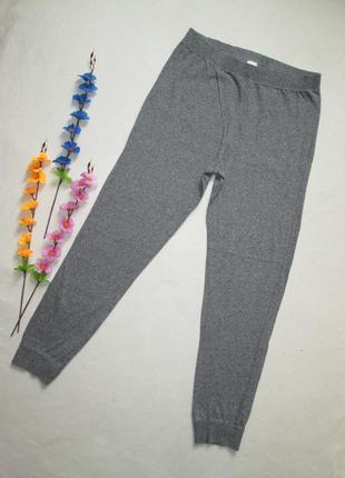 Трикотажные стрейчевые  меланжевые брюки с манжетами f&f