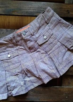 Мини юбка шотландка fishbone