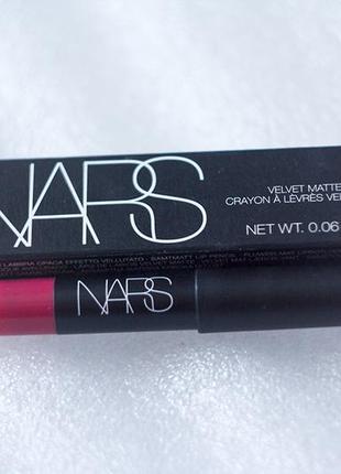 Матовый карандаш-помада для  губ nars lip pencil
