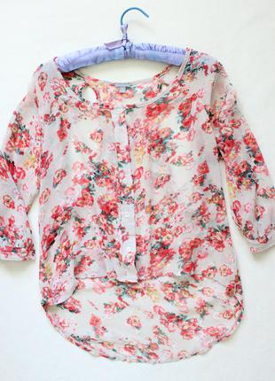 Оригинальная цветочная блуза с вырезами на плечах charlotte russe
