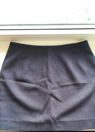 Серая юбка мини