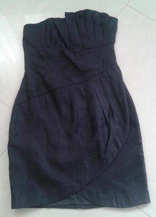 H&m красивое элегантное короткое черное платье