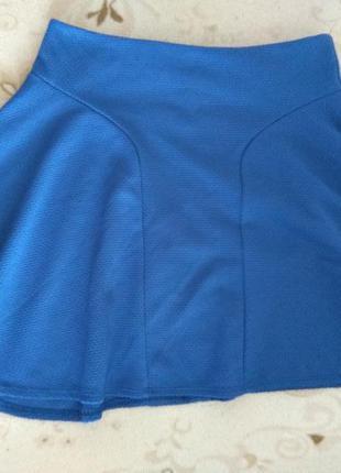 Актуальная синяя юбка солнце от asos