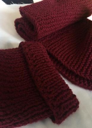 В'язаний набір шапка+шарф