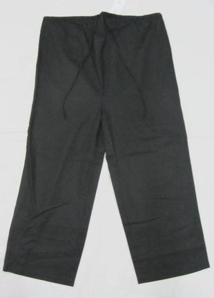 Брюки летние черные для беременных 52% лён next размер 12 (м) штаны укороченные кюлоты