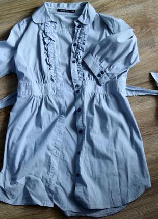 Платье рубашка. блузка - рубашка в мелкую полоску